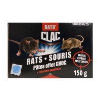 Raticide polyvalent Rats & Souris spécial espèces résistantes format pâte huilée