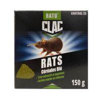 Ratu'Clac : Céréales avoine décortiquée au bromadiolone spécial rats.